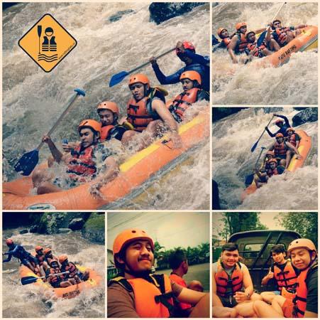 Mahasiswa Binus Jakarta Rafting di Batu
